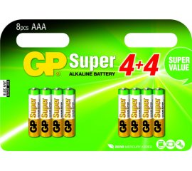 GP BATTERY SUPER BATTERIA MINI STILO AAA ALCALINA CONF. 8 PZ.