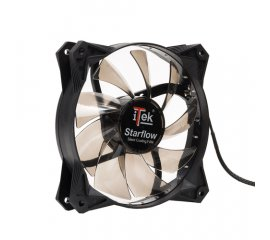 iTek Star Flow Computer case Ventilatore 12 cm Nero