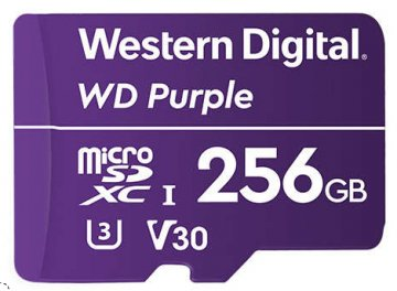 WESTERN DIGTAL PURPLE 256GB MICRO SD SUREVELLAINCE CLASSE 10 UHS1