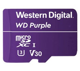 WESTERN DIGTAL PURPLE 128GB MICRO SD SUREVELLAINCE CLASSE 10 UHS1
