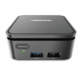MEDION S22002 N3350 mini PC Intel® Celeron® 4 GB 64 GB eMMC Windows 10 Nero