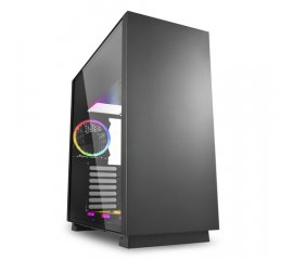 SHARKOON PURE STEEL RGB CABINET MIDI ATX TOWER FINESTRATO NERO