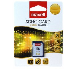Maxell 8GB SDHC memoria flash Classe 10