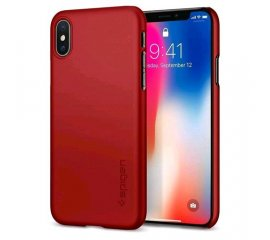 SPIGEN iPHONE X CUSTODIA THIN FIT RED