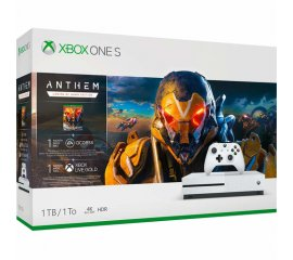 Microsoft Xbox One S + Anthem Bianco 1000 GB Wi-Fi