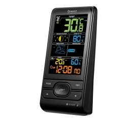 BAR208SX STAZIONE METEO WIRELESS TEMP/UMID.IN-OUT NERO