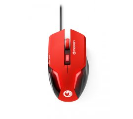 NACON PCGM-105RED MOUSE GAMING OTTICO 2400 DPI 6 PULSANTI LED SUPERFICIE MORBIDA COLORE ROSSO