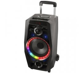 NGS WILD DISCO CASSA BLUETOOTH PORTATILE LED 80W DJ USB AUX IN SD RADIOFM COLORE NERO