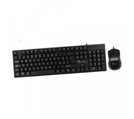 TECHMADE PK-101+PM431 KIT TASTIERA E MOUSE 1.000 DPI LAYOUT ITALIANO USB BLACK