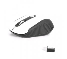 NGS HAZE MOUSE RF WIRELESS OTTICO 1600 DPI AMBIDESTRO NERO BIANCO