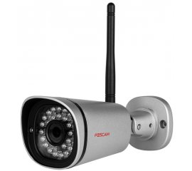 FOSCAM IP CAMERA WIRELESS/CABLE OUTDOOR 1080P 2MPX 20M NIGHT VISION VIEW ANGLE 70 DEGREE P2P WHITE