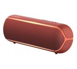SONY SRS-XB22 DIFFUSORE PORTATILE BLUETOOTH SPLASH PROOF EXTRA BASS CON LUCI COLORE ROSSO