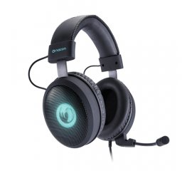 NACON PCGH-300SR CUFFIE HEADSET GAMING CON MICROFONO REMOVIBILE USB CAVO 2.5MT LOGO LUMINOSO PC-PS4 BLACK