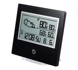 BAR800XBLACK STAZIONE METEO ULTRA SLIM TEMP/UMID.IN/OUT BLACK