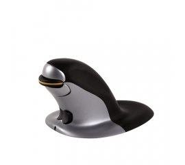 FELLOWES PENGUIN MOUSE VERTICALE SMALL WIRELESS 1.200 DPI COLORE NERO/GRIGIO