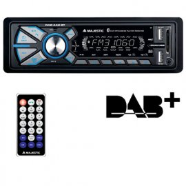 New Majestic DAB-442 BT Ricevitore multimediale per auto Nero 180 W Bluetooth venduto su Radionovelli.it!