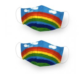 Kanguru Green Mask Set 2 pezzi Kid Rainbow
