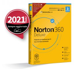 NortonLifeLock Norton 360 Deluxe 2021 | Antivirus per 3 dispositivi | Licenza di 1 anno | Secure VPN e Password Manager | PC, Mac, tablet e smartphone
