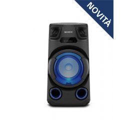 Sony MHC-V13 - Altoparlante Bluetooth All in One con JET BASS BOOSTER, Effetti Luminosi, Lettore CD, USB, Nero