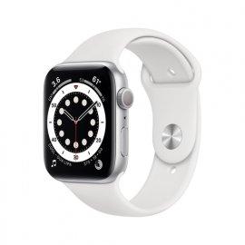 Apple Watch Serie 6 GPS, 44mm in alluminio argento con cinturino Sport Bianco e' ora in vendita su Radionovelli.it!