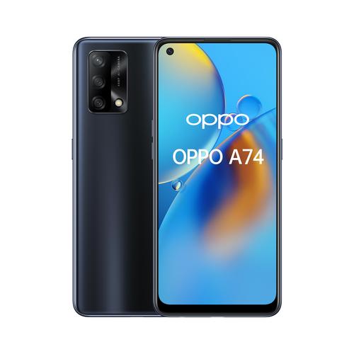 "OPPO A74 Smartphone, 175g, Display 6.43"" FHD+ AMOLED, 4 Fotocamere 48MP, RAM 6GB + ROM 128GB Espandibile, Batteria 5000mAh, Ricarica rapida, Dual Sim, [Versione Italiana], Prism Black e' ora in vendita su Radionovelli.it!"
