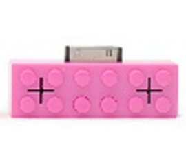 hi-Fun HI-Brick docking station con altoparlanti 1 W Rosa