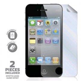 CELLY PROTEGGI SCHERMO PER IPHONE 4S CONFEZIONE 2 PELLICOLE + PANNO PULIZIA SCHERMO