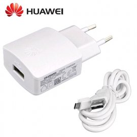 HUAWEI TRAVEL CHARGER FAST 9V 2A USB WHITE + CAVO