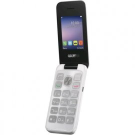 "ALCATEL 20.51X 2.4"" CLAMSHELL TIM PURE WHITE"