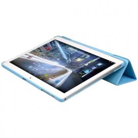"MEDIACOM SMART PAD S4 3G M-MP1S4A3G 10.1"" FLIP CASE ORIGINALE TABLET COLORE AZZURRO"
